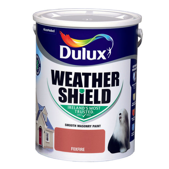 Dulux Weathershield Foxfire 5L - T.O'Higgins Homevalue - Galway