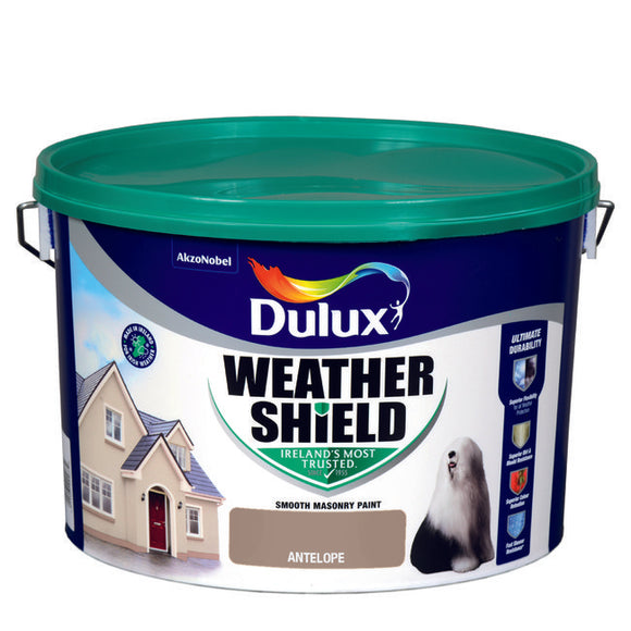 Dulux Weathershield Antelope 10L - T.O'Higgins Homevalue - Galway