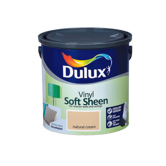 Dulux Vinyl Soft Sheen Natural Cream  2.5L - T.O'Higgins Homevalue - Galway