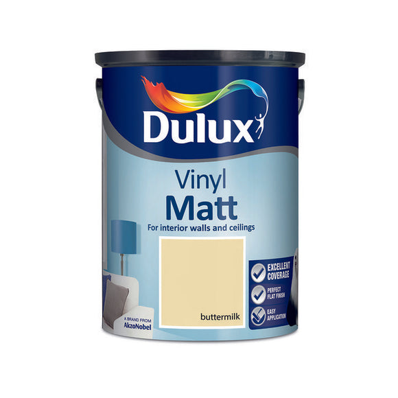 Dulux Vinyl Matt Buttermilk  5L - T.O'Higgins Homevalue - Galway
