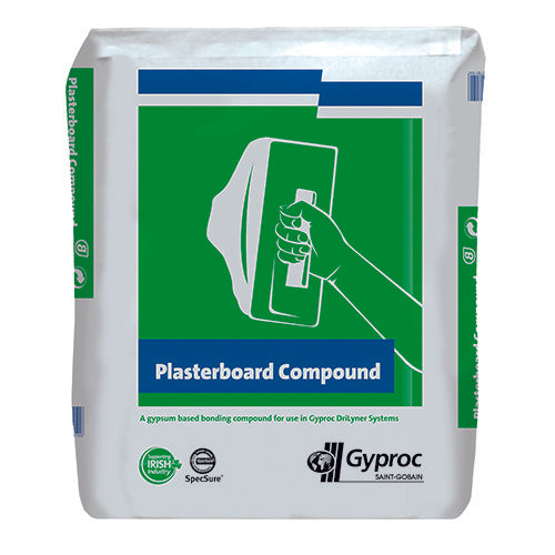 Gypsum Plasterboard Compound 25kg Bag - T.O'Higgins Homevalue - Galway