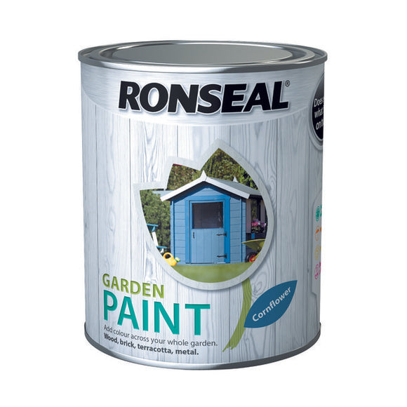 Ronseal Garden Paint 750ml Cornflower - T.O'Higgins Homevalue - Galway