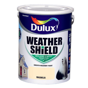 Dulux Weathershield Magnolia 5L - T.O'Higgins Homevalue - Galway