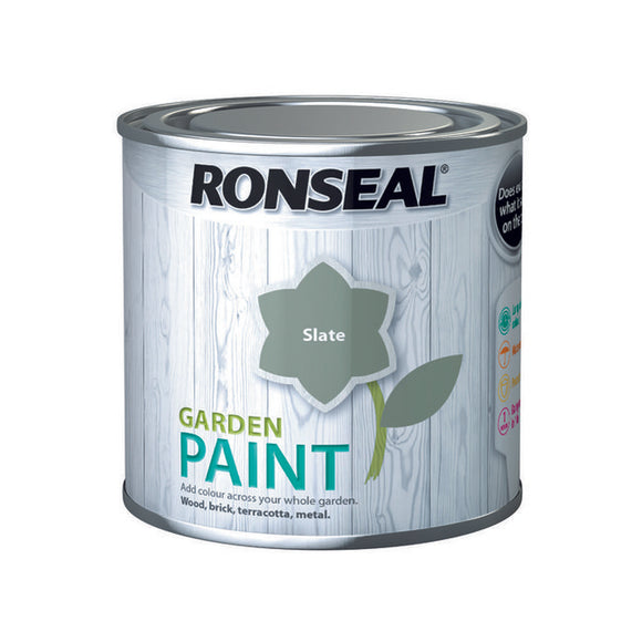 Ronseal Garden Paint 250ml Slate - T.O'Higgins Homevalue - Galway
