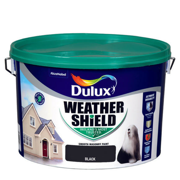 Dulux Weathershield Black  08E53 10L - T.O'Higgins Homevalue - Galway