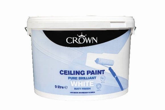 Crown Ceiling White Paint 9 Litre - T.O'Higgins Homevalue - Galway