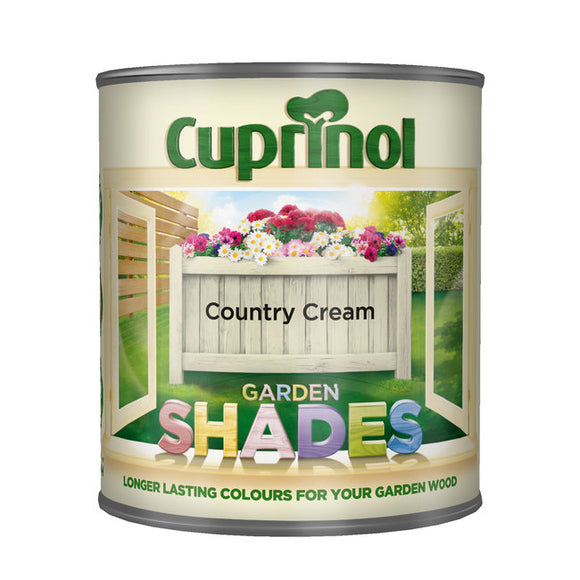 Cuprinol Garden Shades Country Cream 1L - T.O'Higgins Homevalue - Galway