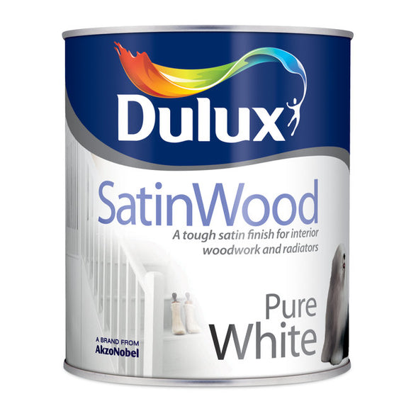 Dulux Easycare Satinwood (750Ml) Pure White - T.O'Higgins Homevalue - Galway