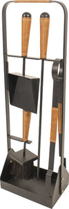 Contemporary Companion Set Black & Tan Leather - T.O'Higgins Homevalue - Galway
