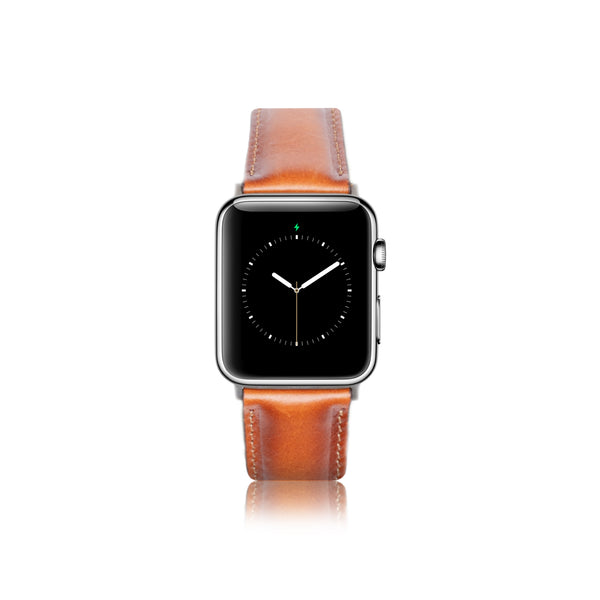 Leren Bandje Apple Watch - Cognac Bruin - Oblac