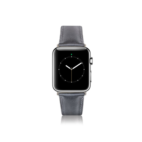 Leren Apple Watch Bandje - Metal Zwart - Oblac