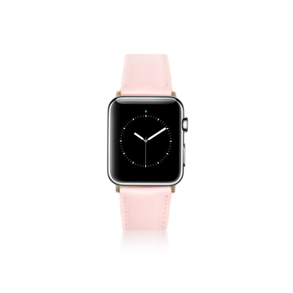 Leren Apple Watch Bandje - Nude Roze - Oblac