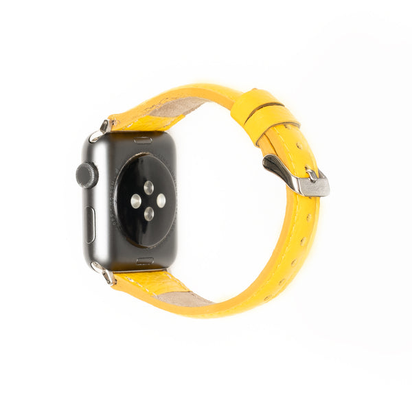 Leren Bandje Apple Watch S - Tuscany Geel - Oblac