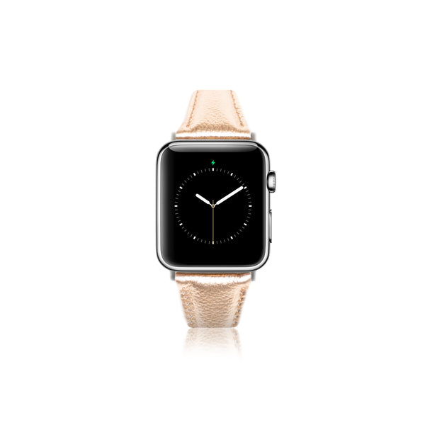 Leren Bandje Apple Watch S - Rosé Gold - Oblac