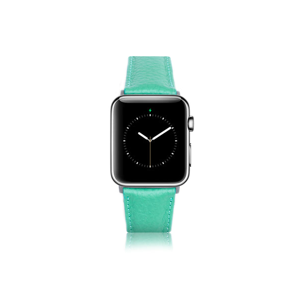 Leren Bandje Apple Watch - Gras Groen - Oblac