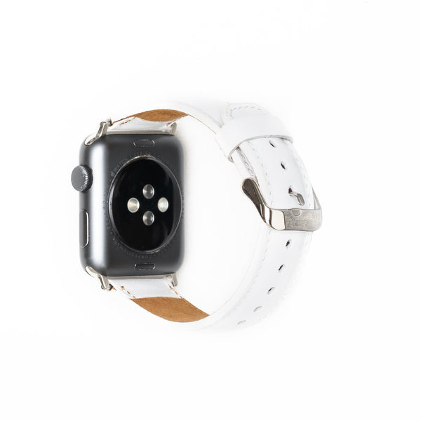 Leren Bandje Apple Watch - Sneeuw Wit - Oblac