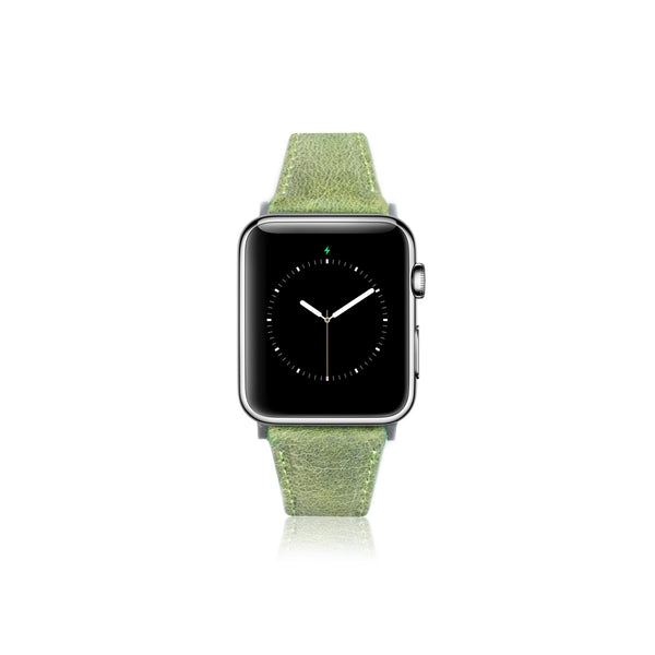 Leren Bandje Apple Watch S - Moss Groen - Oblac