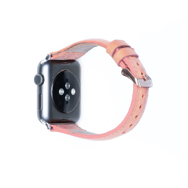 Leren Bandje Apple Watch S- Salmon Roze - Oblac