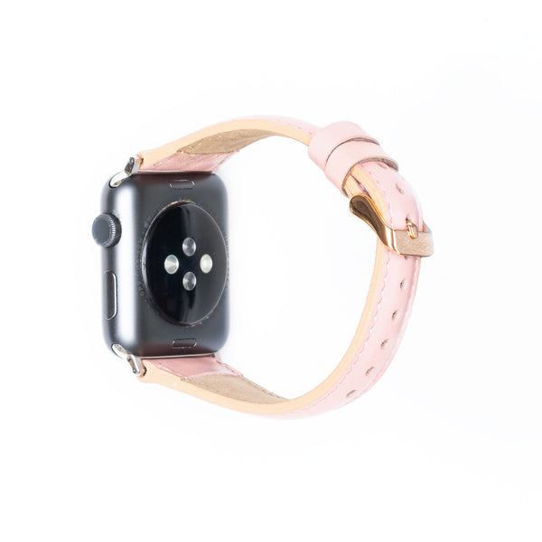 Leren Bandje Apple Watch S - Nude Roze - Oblac