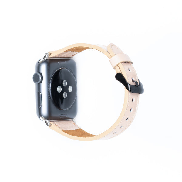 Leren Bandje Apple Watch S - Amarant Roze - Oblac