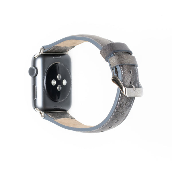 Leren Apple Watch Bandje - Rustiek Grijs - Oblac