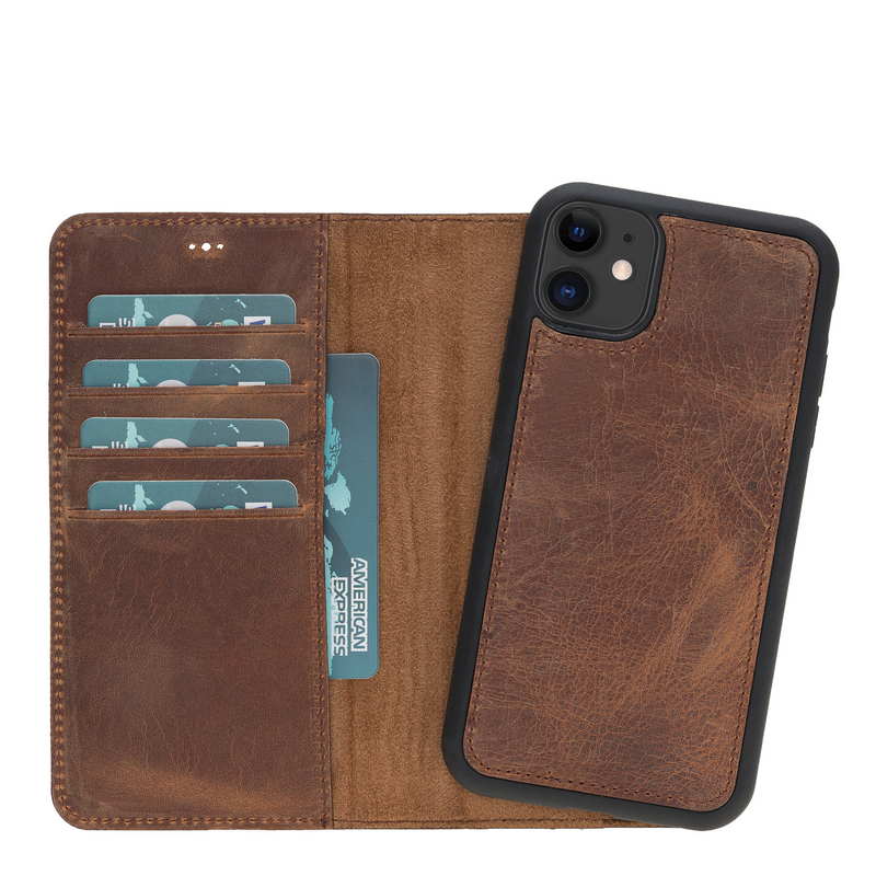Magic Case Iphone 11 - Antiek Bruin - Oblac