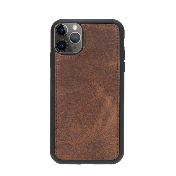 Magic Case Iphone 11 Pro Max - Antiek Bruin - Oblac