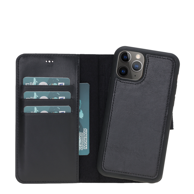 Magic Case Iphone 11 Pro - Rustiek Zwart - Oblac