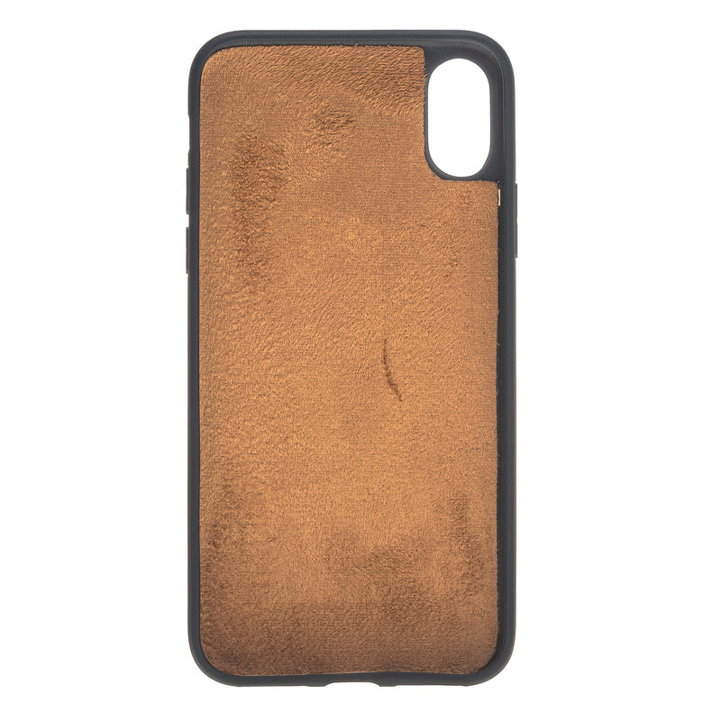 Magic Case Iphone X / XS - Antiek Goud Bruin - Oblac