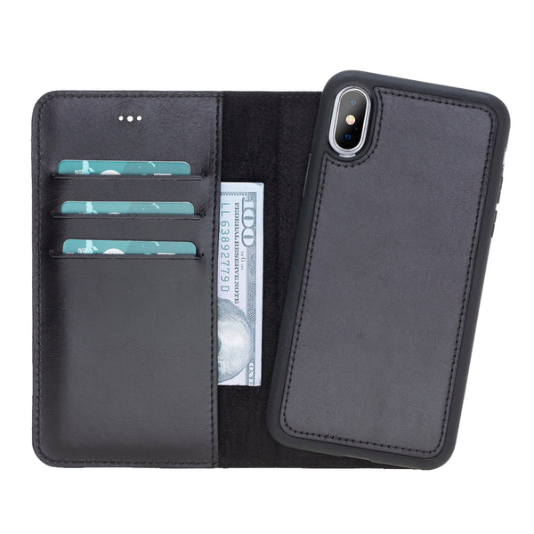Magic Case Iphone X / XS - Rustiek Zwart - Oblac