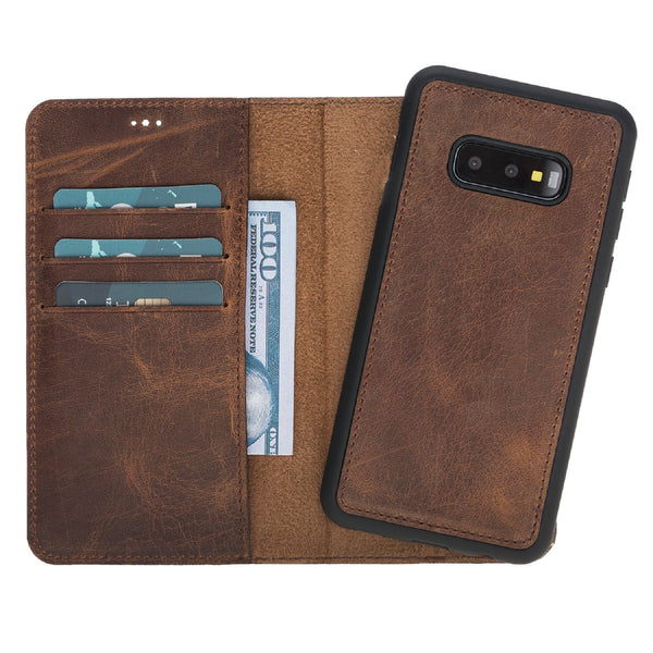 Magic Case Samsung S10 Edge - Antiek Bruin - Oblac