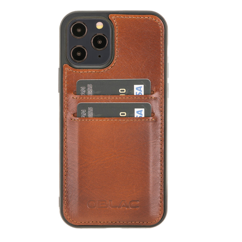 "Flex Cover iPhone 12 (6.1"") - Cognac Bruin - Oblac"