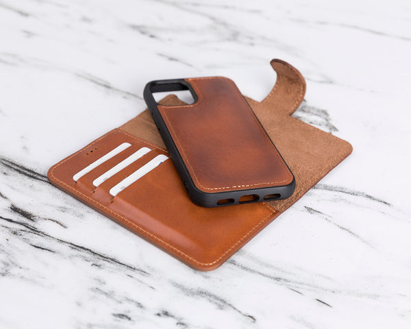 "Magic Case iPhone 12 Mini (5.4"") - Cognac Bruin - Oblac"