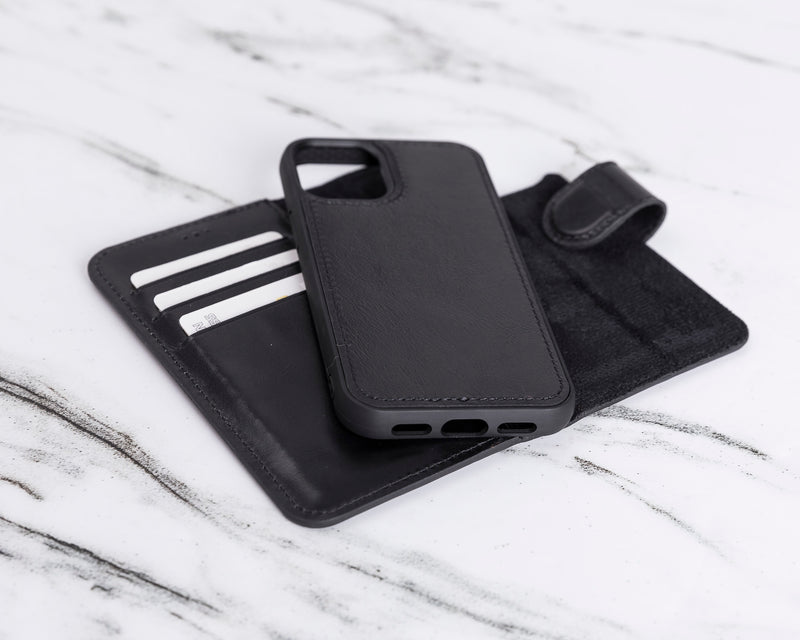 "Magic Case iPhone 12 Mini (5.4"") - Rustiek Zwart - Oblac"