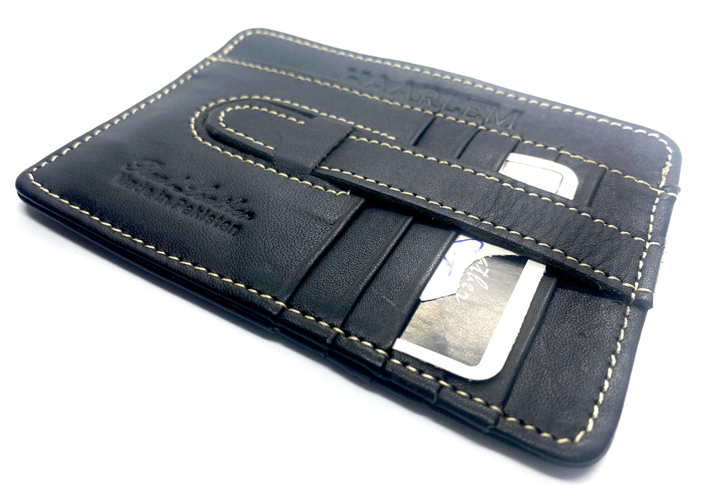 HAARLEM KUZE 21660 LEATHER CARDHOLDER MINI WALLET MEN