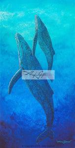 10x20 Paper Prints - Out of the Blue (Whales)