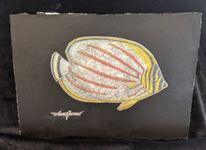 "SC - Paper Giclee Print 7.5x11 - ""Ornate Butterflyfish"" LE #55/250"