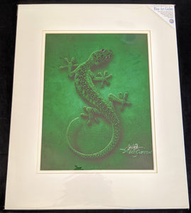 "SC - Paper Giclee Print 16x20- ""Green Suited Gecko"""