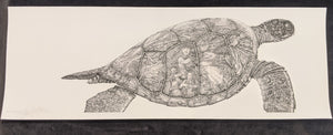 "SC - Misc. Paper Giclee Print 17x6- ""Visions of the Honu"" (Detail)"