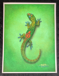 "SC - Misc. Paper Giclee Print 9x12.5- ""Green Day Gecko"""