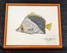 "Load image into Gallery viewer, SC - Framed Canvas Giclee 11x14 - ""Tinker's Butterflyfish"" #60/250"