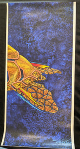 "SC - Canvas Giclee Print 11x24 - ""You just missed it""  (The elegant tail of a Honu - Detail)"