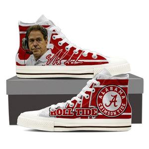 nick saban mens high top sneakers high top