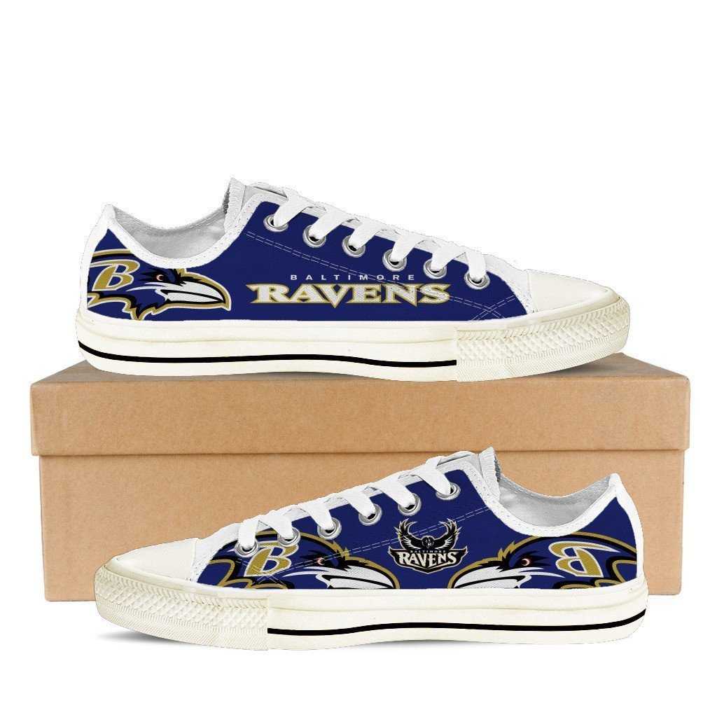 baltimore ravens mens low cut sneakers cut