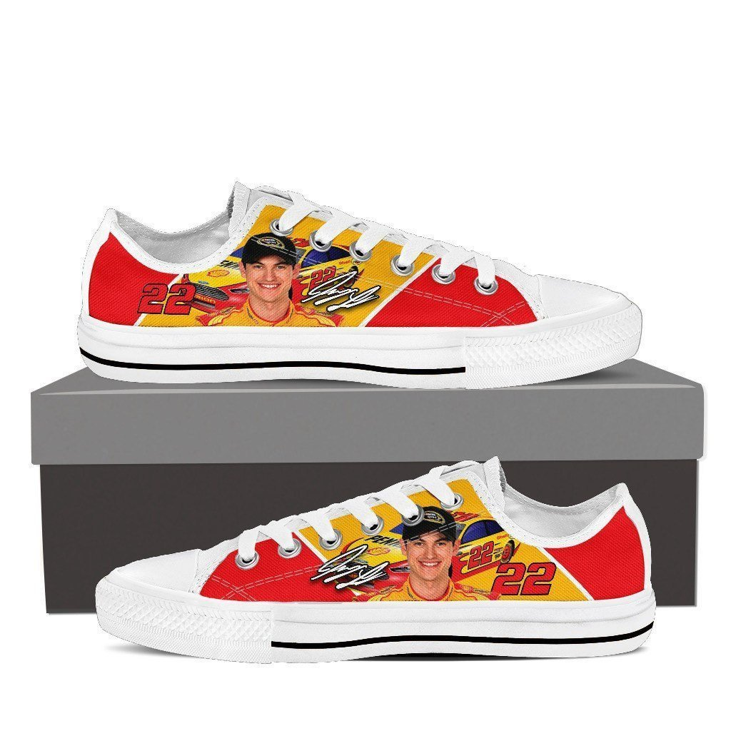 joey logano mens low cut sneakers