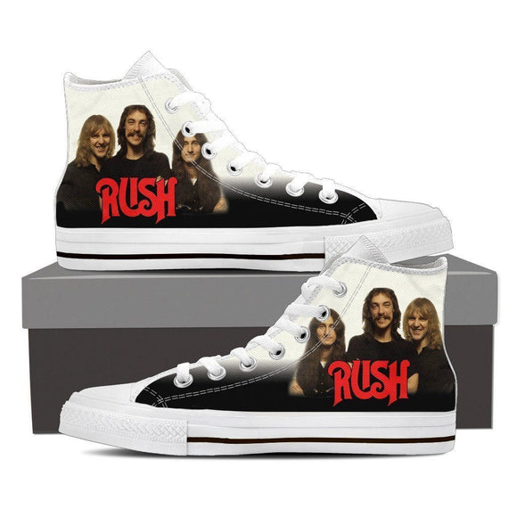 rush band ladies high top sneakers