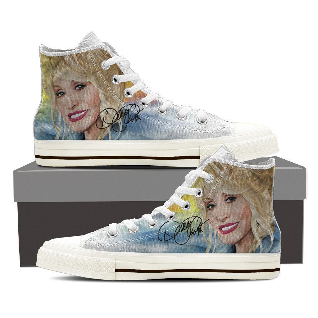 dolly parton ladies high top sneakers