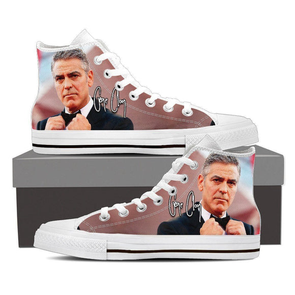 george clooney ladies high top sneakers