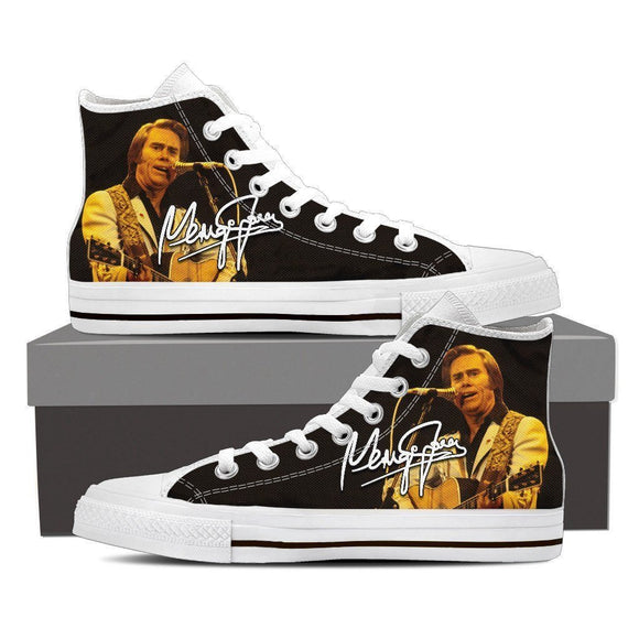 george jones ladies high top sneakers