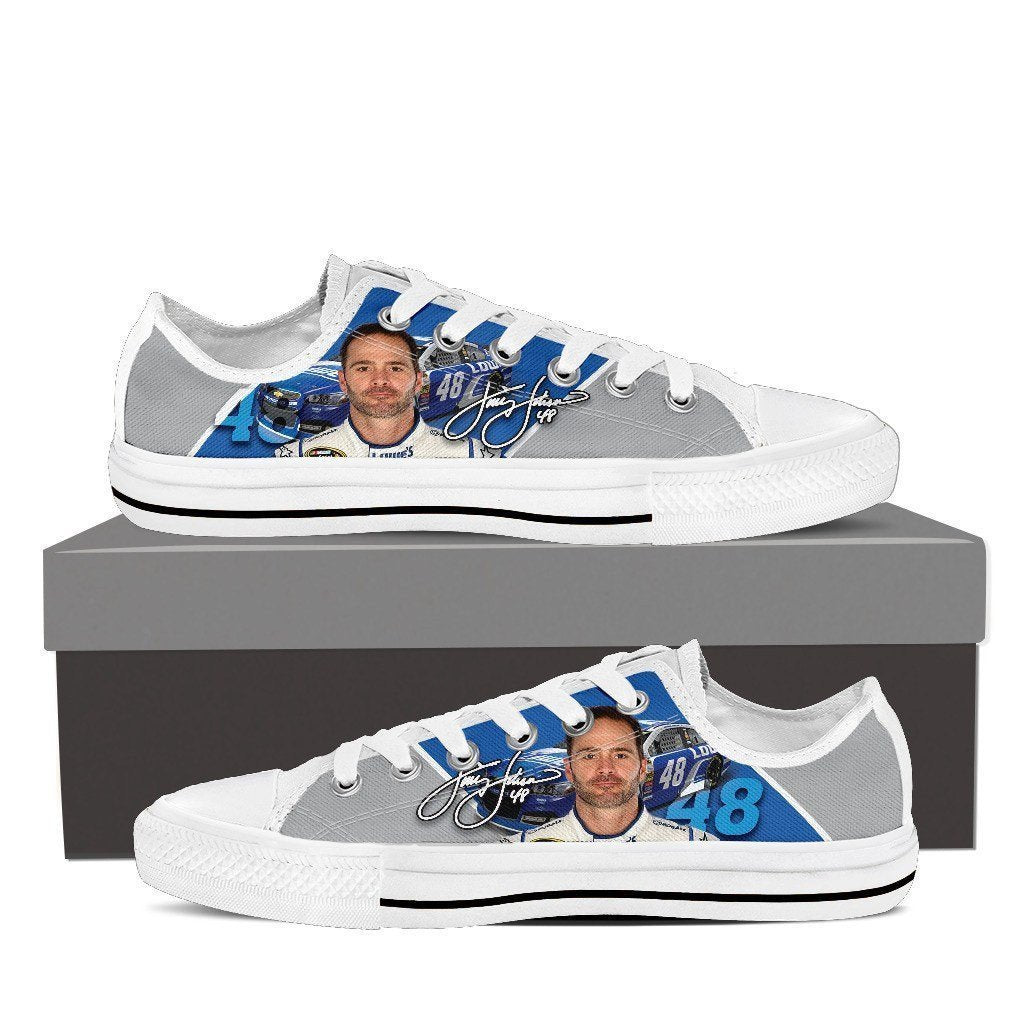 48 jimmie johnson nascar mens low cut sneakers